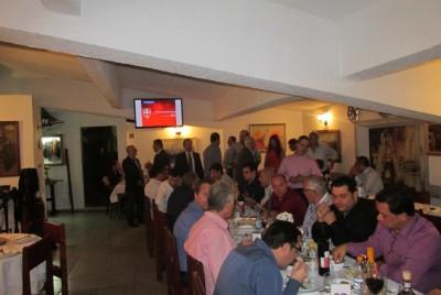 Diretoria da APAS durante jantar no Canindé