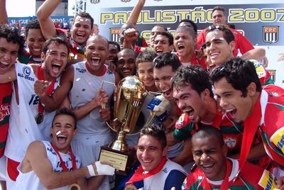 Portuguesa campeã do Campeonato Paulista Serie-A2 de 2007